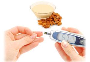 latte di mandorla diabete