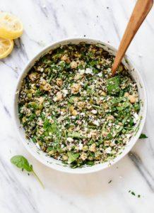 cena dieta senza istamina quinoa